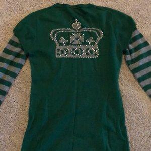 BCBG 100% Cashmere crown sweater, so unusual! M